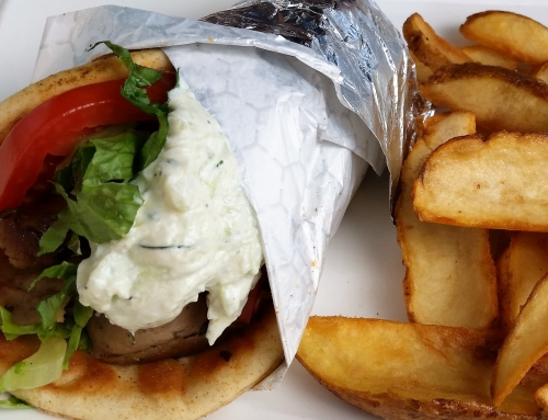 Greek Garlic Gyro recipe