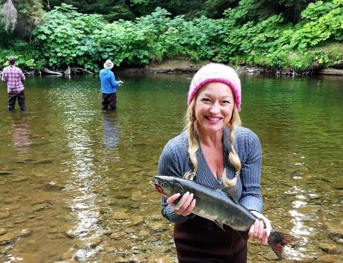 Salmon Fishing in Game Creek, Alaska