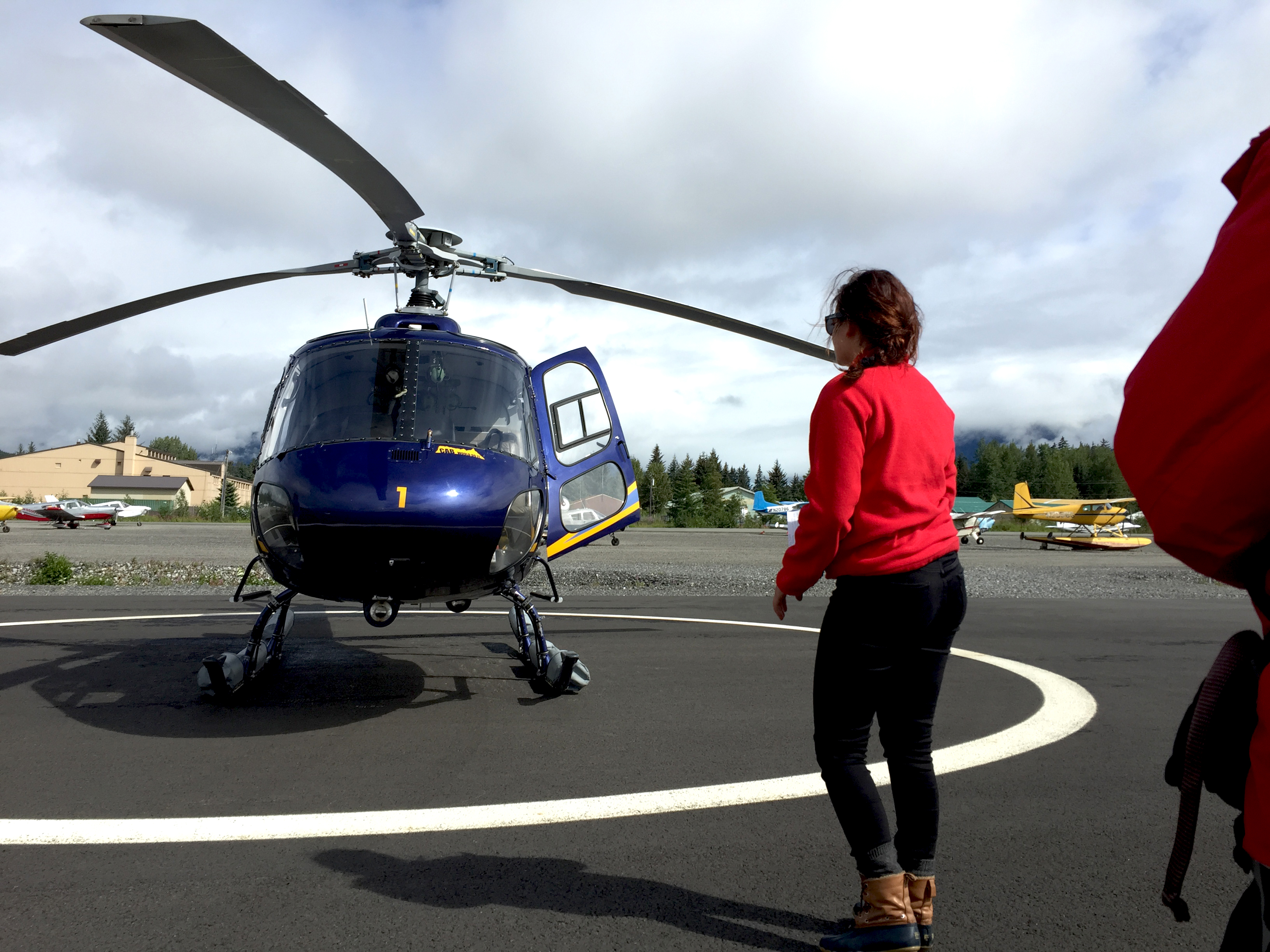 Tongass National Forest, helicopter