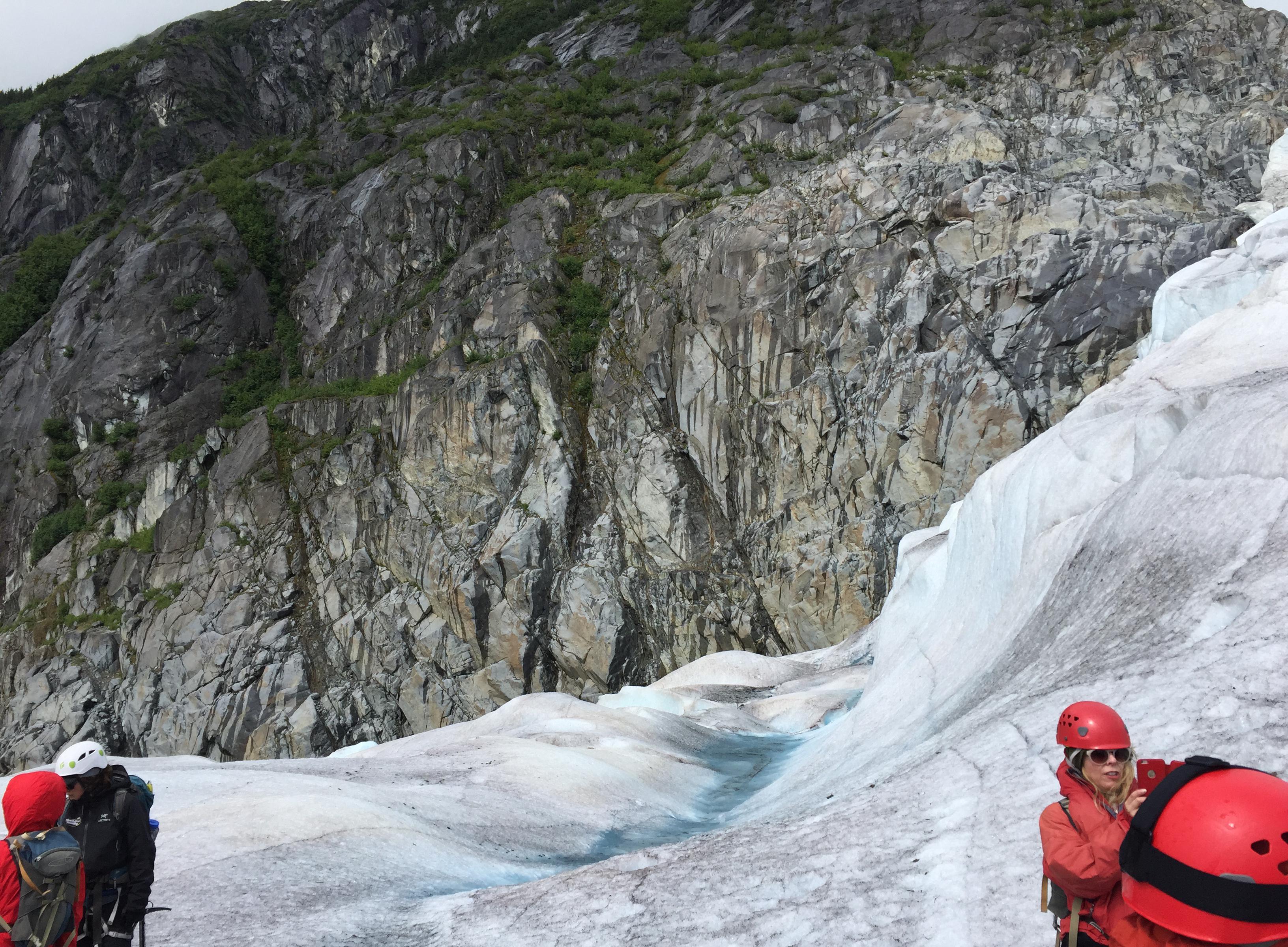 300-feet ice wall in Juneau, Alaska